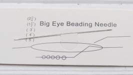 Игла длинная большое ушко для бисера
