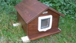 Домик для кота 40х50 с дверками утепленна