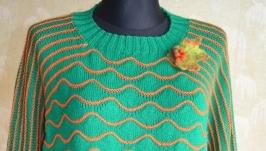 женский свитер- оверсайз