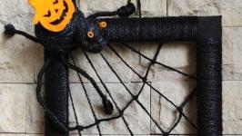 Картина Хеллоуин 2020 Черный паук Подарок на хеллоуин Декор