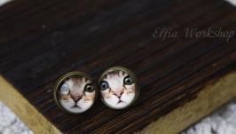 Сережки котик №71