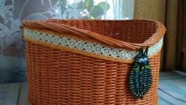Плетёная лежанка для животных.