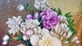 Алмазная живопись(Пионы)