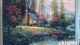 Алмазная мозайка (Домик у озера)