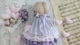 Нежная текстильная-интерьерная кукла в стиле Тильда