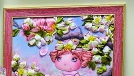 миниатюрка ′Феечка Анфиска!′ - вышивка лентами
