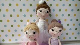 М′яка іграшка Балерина, стиль в′язання амігурумі