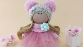 Кукла интерьерная текстильная. Кукла в фатиновой юбке.