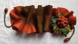 Шарф-горжетка валяная ′Осень′