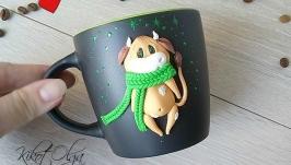 Чашка Кружка Корова символ 2021 года Подарок