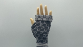 Designer Gucci Fingerless Gloves