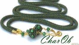 Lariat ′Green Gold′ Decoration golden-green transformer