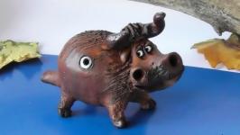 Свистулька Бык этно-сувенир