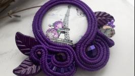 Сутажна брошка ′Париж′