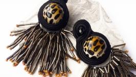 Сутажні сережки ′Полювання′