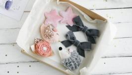 Подарочный набор заколок для девочки  Красивые заколки девочке