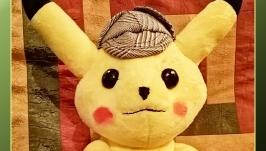 Мягкая игрушка покемон Детектив - Пикачу