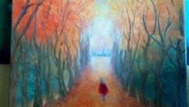 Картина маслом Осень в Париже