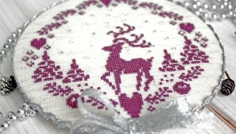 Ёлочная игрушка олень в скандинавском стиле Украшение на ёлку