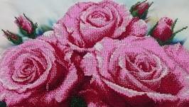 Картина вишита бісером′ Розовый букет′