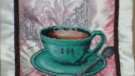 Картина бісером ′Кофе в Париже - 2′