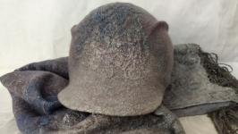 Валяный комплект ′Серая дымка′