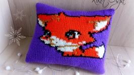 Подушка Лис Феник вязанная подушка игрушка