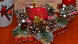 Рождественская звезда - аромосвеча (красная)