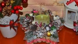 Рождественская звезда - аромосвеча (зелёная)