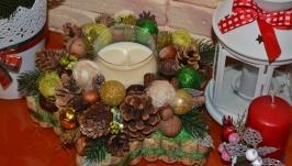Рождественская звезда - аромосвеча (ваниль)