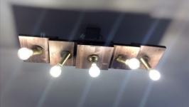 Светильник потолочный из дерева