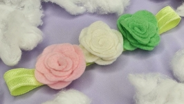 Повязка для девочки ′ЦВЕТЫ ′Детская повязка на голову с цветами