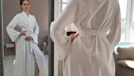 MAXI LINEN ROBE, LINEN WRAP DRESS