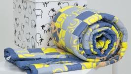 Лоскутное одеяло в подарочной коробке