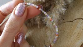 Серебряной браслет с натуральными цирконами ′Радуга′