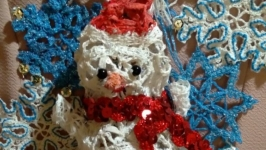 Снеговик кружевной.