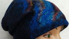 Валяная двусторонняя шапочка ′Бини′