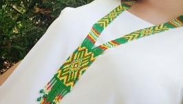 Гердан из бисера, эксклюзивное украшение, необычный подарок