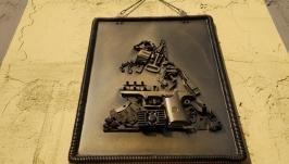 Настенное панно, Картина, Стимпанк, Настенный декор, Петр 1