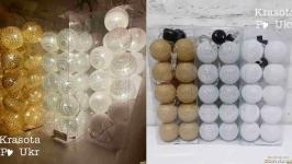 Гірлянди-кульки у 3-х кольорах від мережі (20 кульок)