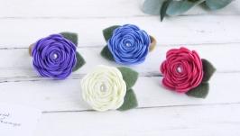 Резинки с цветами для девочки в садик