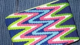 Косметичка с вышивкой ′Зигзаг′