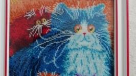 Beaded painting ′Eye fluffy′
