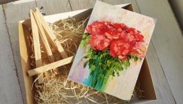 тут изображено Подарочный набор, картина Розы