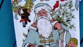 Новогодний носок «Добрый дедушка Мороз»
