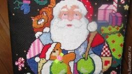 Рождественский носок для подарков ′Лоскутный Санта′