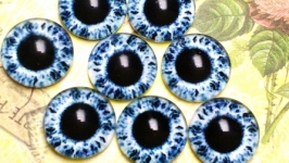 Glass cabochons, eyes for toys 12 mm No.89