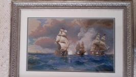 Картина «Бриг «Меркурий», атакованный двумя турецкими кораблями».