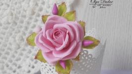 Брош Рожева троянда