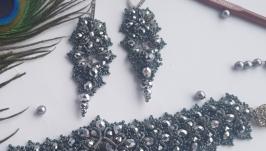 Браслет и серьги ′серебро′